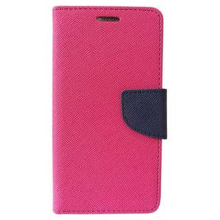 Fancy Artificial Leather Flip Cover For Samsung Galaxy A7 (2016) (PINK)