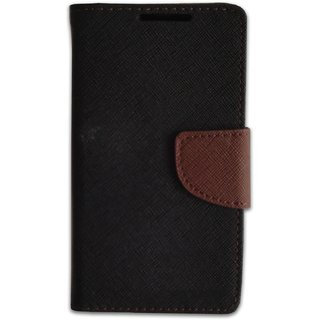 FANCY WALLET DIARY WITH STAND VIEW FLIP COVER For  Samsung Galaxy Trend (GT-S7392) (BROWN)