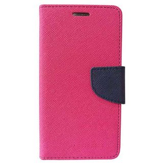 FANCY WALLET DIARY WITH STAND VIEW FLIP COVER For  HTC Desire 516  (Pink)