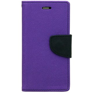 FANCY WALLET DIARY WITH STAND VIEW FLIP COVER For  YU Yutopia YU5050 (PURPLE)