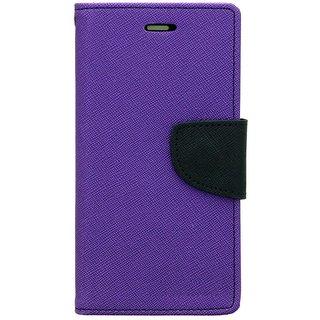 New Mercury Goospery Fancy Diary Wallet Flip Case Back Cover for  Sony Xperia M2 Dual  (Purple)