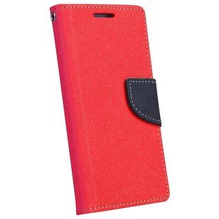 New Mercury Goospery Fancy Diary Wallet Flip Case Back Cover for  Reliance Lyf Earth 2  (Red)
