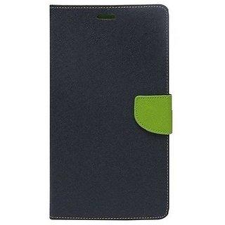 New Mercury Goospery Fancy Diary Wallet Flip Case Back Cover for  Reliance Lyf Wind 4 (BLUE)