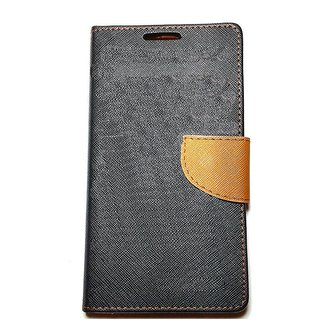 New Mercury Goospery Fancy Diary Wallet Flip Case Back Cover for  Reliance Lyf Earth 2 (BROWN)