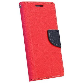 New Mercury Goospery Fancy Diary Wallet Flip Case Back Cover for  Micromax Canvas Play Q355 (RED)