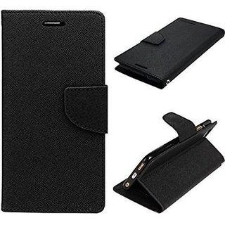 New Mercury Goospery Fancy Diary Wallet Flip Case Back Cover for  Reliance Lyf Water 5  (Black)