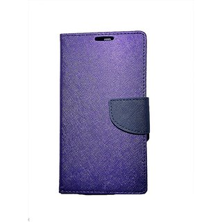 FANCY WALLET DIARY WITH STAND VIEW FLIP COVER For  Samsung Galaxy On5 (PURPLE)