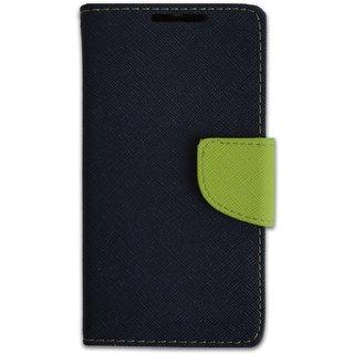 New Mercury Goospery Fancy Diary Wallet Flip Case Back Cover for   Lenovo A1000 (BLUE)