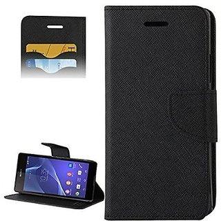 New Mercury Goospery Fancy Diary Wallet Flip Case Back Cover for  Samsung Galaxy J7 (BLACK)