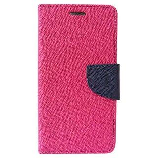New Mercury Goospery Fancy Diary Wallet Flip Case Back Cover for  Motorola Moto E2 (PINK)