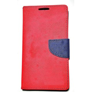 FANCY WALLET DIARY WITH STAND VIEW FLIP COVER For  Motorola Moto X3 (RED)