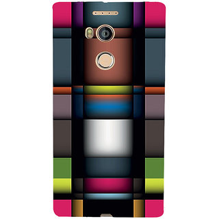 3D Designer Back Cover for Gionee Elife E8 :: Sharp Color Patterns  ::  Gionee Elife E8 Designer Hard Plastic Case (Eagle-117)