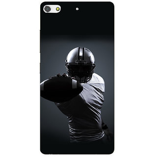 3D Designer Back Cover for Gionee S7 :: Rugby Player  ::  Gionee S7 Designer Hard Plastic Case (Eagle-016)