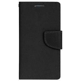 New Mercury Goospery Fancy Diary Wallet Flip Case Back Cover for  Micromax Bolt Q338  (Black)