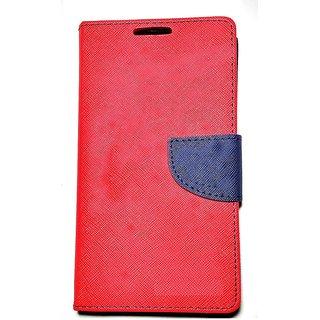 New Mercury Goospery Fancy Diary Wallet Flip Case Back Cover for  Reliance Lyf Earth 1  (Red)