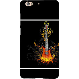 3D Designer Back Cover for Gionee S6 :: Guitar and Flowers  ::  Gionee S6 Designer Hard Plastic Case (Eagle-195)