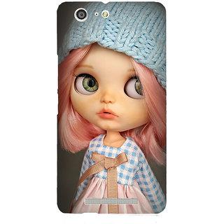 3D Designer Back Cover for Gionee Marathon M5 :: Baby Cartoon Girl in Woolen Cap  ::  Gionee Marathon M5 Designer Hard Plastic Case (Eagle-045)