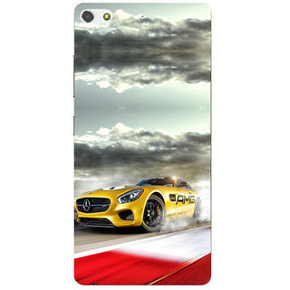 3D Designer Back Cover for Gionee S7 :: Animated High Speed Car  ::  Gionee S7 Designer Hard Plastic Case (Eagle-046)