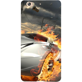3D Designer Back Cover for Gionee S6 :: Car on Fire  ::  Gionee S6 Designer Hard Plastic Case (Eagle-063)
