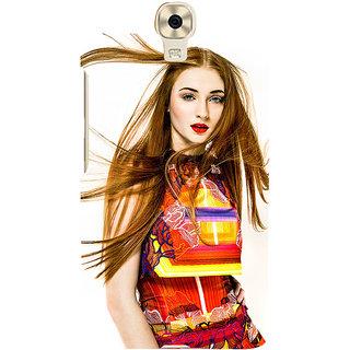 3D Designer Back Cover for Gionee Marathon M6 :: Long Hair Girl in Red Dress  ::  Gionee Marathon M6 Designer Hard Plastic Case (Eagle-094)