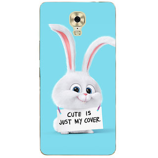 3D Designer Back Cover for Gionee Marathon M6 Plus :: Cute is Just my Cover  ::  Gionee Marathon M6 Plus Designer Hard Plastic Case (Eagle-104)