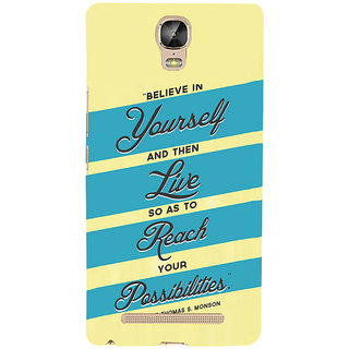 3D Designer Back Cover for Gionee Marathon M5 Plus :: Believe in Yourself  ::  Gionee Marathon M5 Plus Designer Hard Plastic Case (Eagle-170)