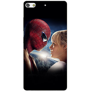 3D Designer Back Cover for Gionee S7 :: Superhero with a Girl  ::  Gionee S7 Designer Hard Plastic Case (Eagle-052)