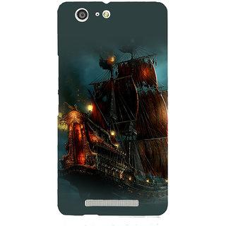 3D Designer Back Cover for Gionee Marathon M5 :: Old Style Ship  ::  Gionee Marathon M5 Designer Hard Plastic Case (Eagle-058)