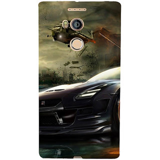 3D Designer Back Cover for Gionee Elife E8 :: Car and Helipcopter  ::  Gionee Elife E8 Designer Hard Plastic Case (Eagle-083)
