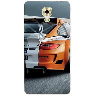 3D Designer Back Cover for Gionee Marathon M6 Plus :: Premium 2 Color Racing Car  ::  Gionee Marathon M6 Plus Designer Hard Plastic Case (Eagle-110)