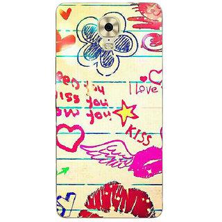 3D Designer Back Cover for Gionee Marathon M6 Plus :: I Love You  ::  Gionee Marathon M6 Plus Designer Hard Plastic Case (Eagle-243)
