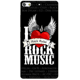 3D Designer Back Cover for Gionee S7 :: Rock Music  ::  Gionee S7 Designer Hard Plastic Case (Eagle-066)