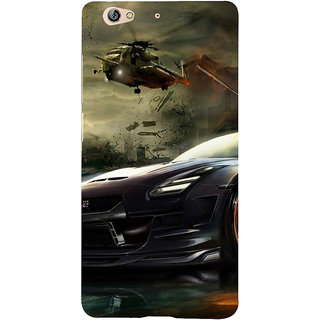 3D Designer Back Cover for Gionee S6 :: Car and Helipcopter  ::  Gionee S6 Designer Hard Plastic Case (Eagle-083)