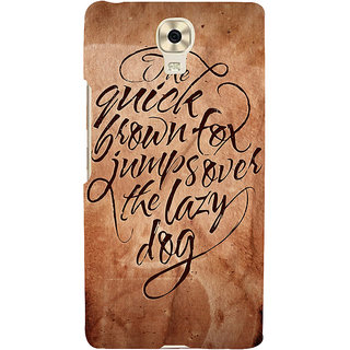 3D Designer Back Cover for Gionee Marathon M6 :: The Quick Brown Fox Jump over the Lazy Dog  ::  Gionee Marathon M6 Designer Hard Plastic Case (Eagle-133)