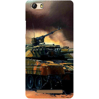 3D Designer Back Cover for Gionee Marathon M5 Lite :: Army Battle Tank  ::  Gionee Marathon M5 Lite Designer Hard Plastic Case (Eagle-134)
