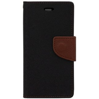 New Mercury Goospery Fancy Diary Wallet Flip Case Back Cover for  Reliance Lyf Water 2 (BROWN)