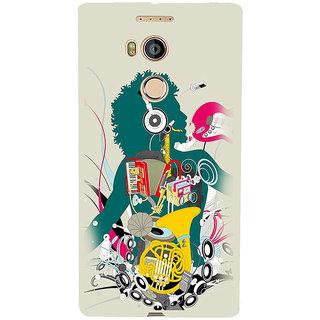 3D Designer Back Cover for Gionee Elife E8 :: Musical Instruments  ::  Gionee Elife E8 Designer Hard Plastic Case (Eagle-175)