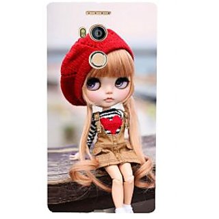 3D Designer Back Cover for Gionee Elife E8 :: Cartoon Girl with Red Woolen Cap  ::  Gionee Elife E8 Designer Hard Plastic Case (Eagle-037)
