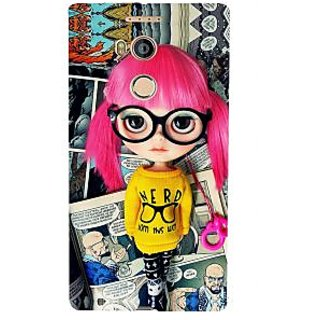 3D Designer Back Cover for Gionee Elife E8 :: Cartoon Girl with Red Hair and Spectacles ' ::  Gionee Elife E8 Designer Hard Plastic Case (Eagle-042)