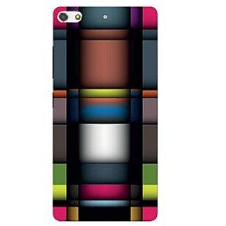 3D Designer Back Cover for Gionee S7 :: Sharp Color Patterns  ::  Gionee S7 Designer Hard Plastic Case (Eagle-117)