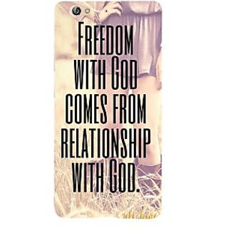 3D Designer Back Cover for Gionee S6 :: Freedom with God comes from Relationship with God  ::  Gionee S6 Designer Hard Plastic Case (Eagle-163)