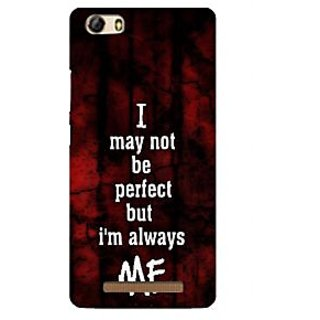 3D Designer Back Cover for Gionee Marathon M5 Lite :: I may not be Perfect but I am always me  ::  Gionee Marathon M5 Lite Designer Hard Plastic Case (Eagle-215)