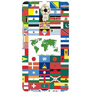3D Designer Back Cover for Gionee Marathon M6 :: Flags of Countries  ::  Gionee Marathon M6 Designer Hard Plastic Case (Eagle-228)