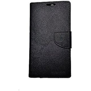 New Mercury Goospery Fancy Diary Wallet Flip Case Back Cover for  Micromax Canvas Knight 2 E471  (Black)