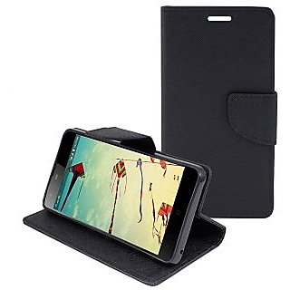 New Mercury Goospery Fancy Diary Wallet Flip Case Back Cover for  Samsung Galaxy J2  (Black)