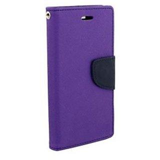 New Mercury Goospery Fancy Diary Wallet Flip Case Back Cover for  Samsung Galaxy E5  (Purple)