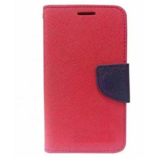 New Mercury Goospery Fancy Diary Wallet Flip Case Back Cover for  Reliance Lyf Flame 4  (Red)