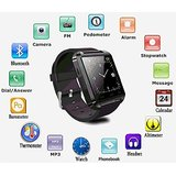 Bluetooth Smartwatch Black with apps (facebook,whatsapp,twitter etc.) compatible with Celkon Smartron A67 by Creative