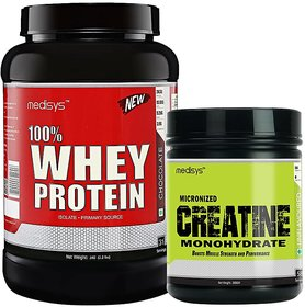 Medisys Muscle Gain Combo Chocolate Whey Protein 1Kg+Creatine