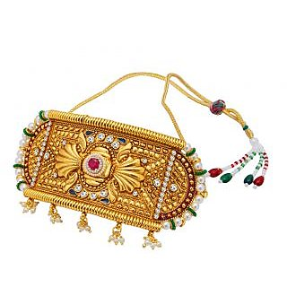 Sukkhi Gold Plated Gold Brass & Copper Armlet for Women